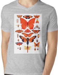 Orange Insect Collection Mens V-Neck T-Shirt