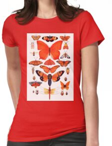 Orange Insect Collection Womens Fitted T-Shirt