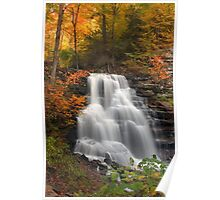 October Foliage Surrounding Erie Falls Poster