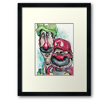 Mario Brothers Family Portrait Framed Print