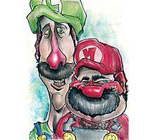 Mario Brothers Family Portrait Photographic Print