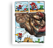 Mario on Shrooms Canvas Print