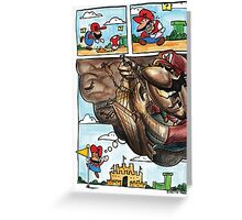 Mario on Shrooms Greeting Card