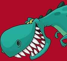 Sneaky Dinosaur by junkydotcom