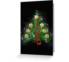 CHRISTMAS WITH DRAGON BALL Greeting Card