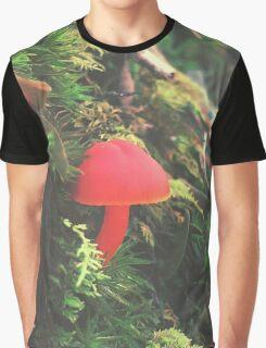 Red Shroomiebaby Graphic T-Shirt