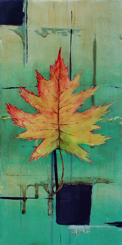 Maple Leaf Abstract 1 of 2 by Gray Artus