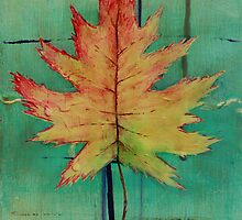 Maple Leaf Abstract 1 of 2 by GrayA