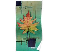 Maple Leaf Abstract 1 of 2 Poster