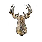 White Camo Buck Iphone Case by vehrtical