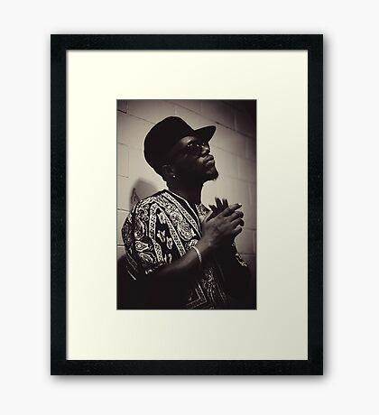 Killa Dan The Rapper Framed Print