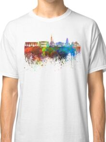Gothenburg skyline in watercolor background Classic T-Shirt