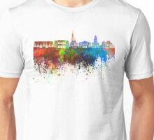 Gothenburg skyline in watercolor background Unisex T-Shirt
