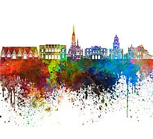 Gothenburg skyline in watercolor background Photographic Print