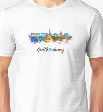 Gothenburg skyline in watercolor Unisex T-Shirt