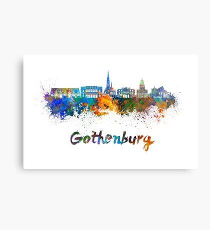 Gothenburg skyline in watercolor Canvas Print