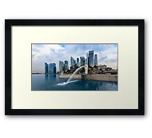 Merlion Park Framed Print