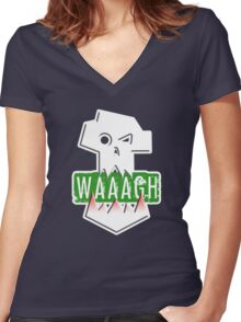 WAAAGH! ORKS Women's Fitted V-Neck T-Shirt