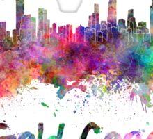 Gold Coast skyline in watercolor Sticker