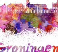 Groningen skyline in watercolor Sticker