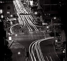 Traces of night - Brisbane - QLD - Australia by Norman Repacholi