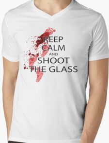 Die Hard Keep Calm and Shoot the Glass Mens V-Neck T-Shirt