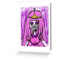 adventure time - princess bubblegum zombie Greeting Card
