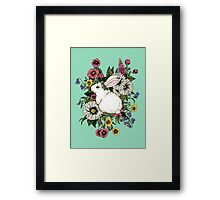 Rabbit in Flowers Framed Print