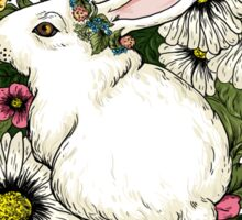 Rabbit in Flowers Sticker