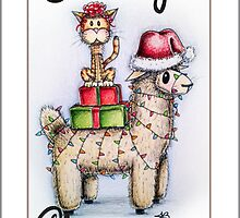 Merry Xmas from Alpaca and Cat by jenbarker