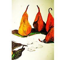 pears and nuts Photographic Print