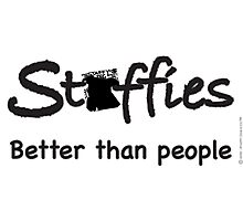 Staffies better than people text Photographic Print