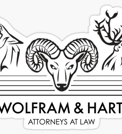 Wolfram & Hart: Attorneys at Law Sticker
