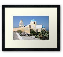 Church on a Bright Afternoon, Oia, Santorini Framed Print