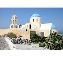 Church on a Bright Afternoon, Oia, Santorini Photographic Print