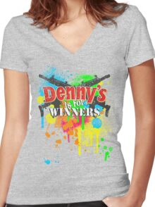 Denny's is for Winners Women's Fitted V-Neck T-Shirt