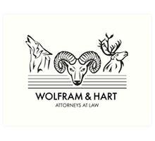 Wolfram & Hart: Attorneys at Law Art Print