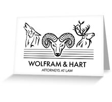 Wolfram & Hart: Attorneys at Law Greeting Card
