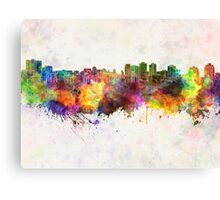 Halifax skyline in watercolor background Canvas Print