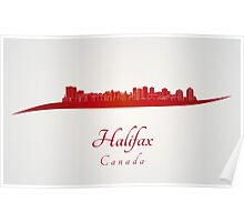 Halifax skyline in red Poster