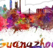 Guangzhou skyline in watercolor Sticker