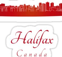 Halifax skyline in red Sticker