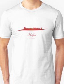 Halifax skyline in red Unisex T-Shirt