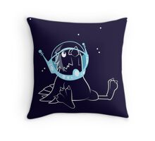 Space Budgie Throw Pillow