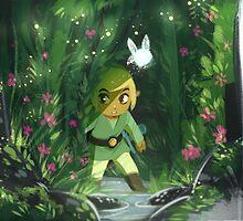 Legend of Zelda- Forest Link by bridraccoon
