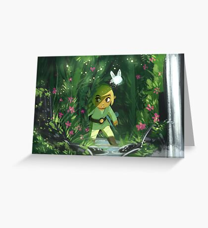 Legend of Zelda- Forest Link Greeting Card