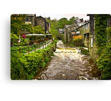 Water flowing at Ambleside, Lake District, UK Canvas Print