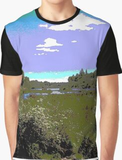 Tasmania - Landscape by Anne Winkler Graphic T-Shirt