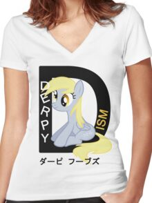 Derpyism: MLP: FiM Women's Fitted V-Neck T-Shirt