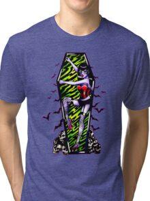 Pin Up Ghouls - Vampire Girl Tri-blend T-Shirt
